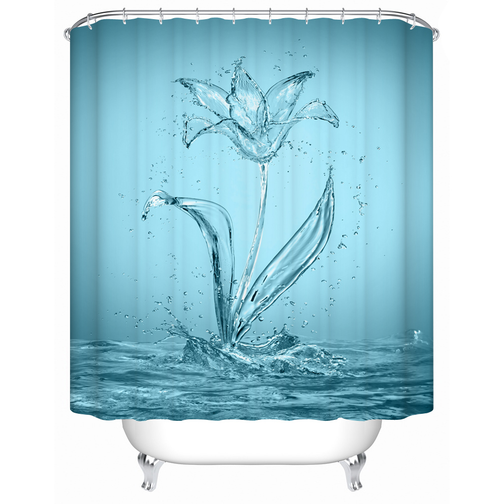 Waterproof Bathroom Shower Curtain Open Red Rose In The Water Curtains Eco Friendly Furniture Accessories MG 012 From Home