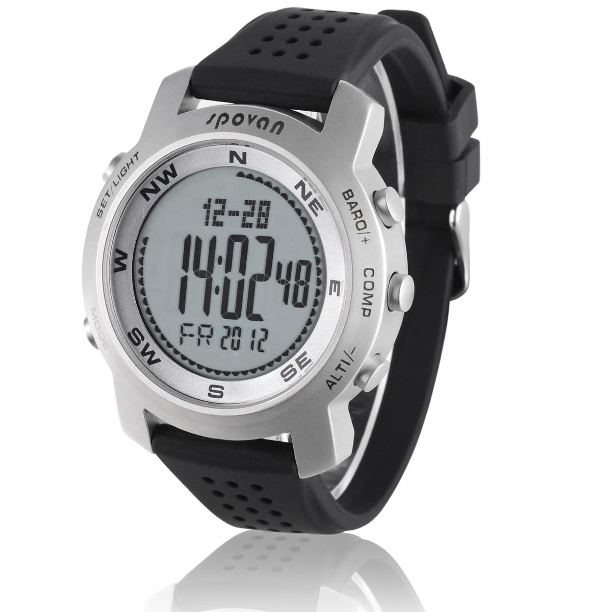 Водонепроницаемые мужские часы альтиметр барометр термометр компас прогноз погоды хронограф цифровые спортивные часы Spovan BRAVO I