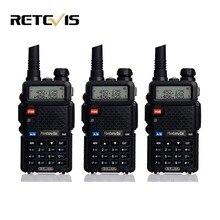 3pcs Handheld Walkie Talkie Retevis RT-5R 5W 128CH Dual Band VHF UHF Radio VOX Two Way Radio Portable Ham Radio Comunicador