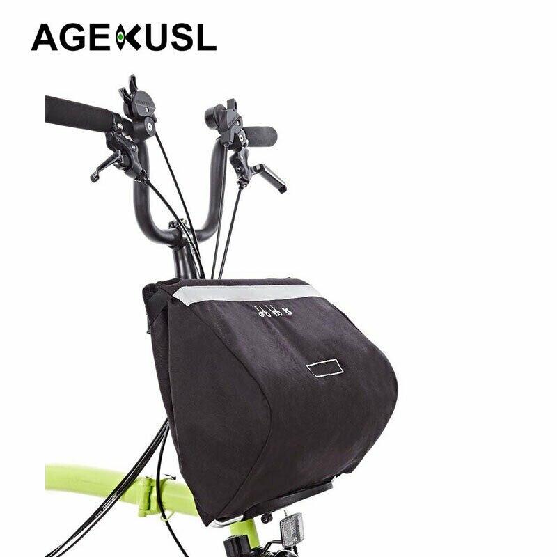 Sacs de vélo de vélo résistant à l'eau 16L sacoches pour Brompton sac de panier grande capacité accessoires de vélo de vélo réfléchissants