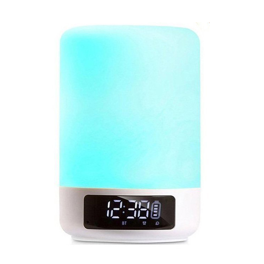 GTBL Bluetooth Speaker Lamp Color Changing Lamp Bedside Lamp Touch Control Lamp RGB & LED Kids Night Light Mode, Music Mood Li night light with bluetooth speaker shava portable wireless bluetooth speaker touch control color led bedside table lamp