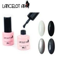 LANCELOT ART UV LED Kynsilakka Valkoinen Musta Värit UV Gel Soak Off Kynsitekniikka Pitkäkestoinen geeli Professional Kynsilakat Tuotemerkit