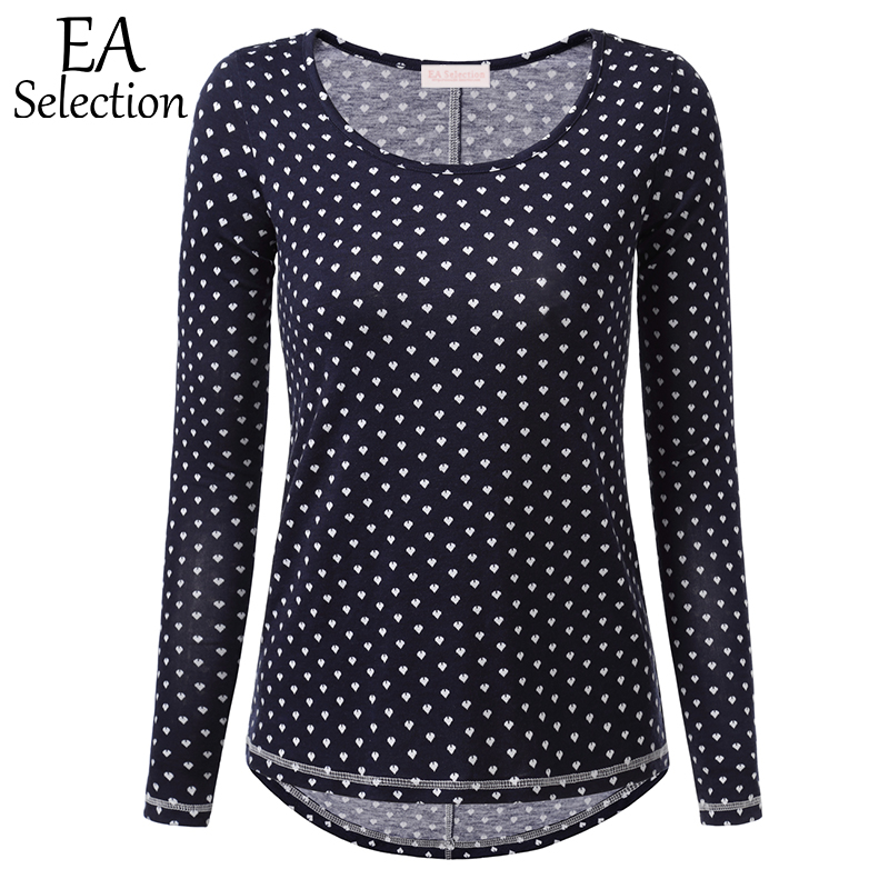 EA Selection Casual T Shirts with Print Cute Heart Star Pattern for ...