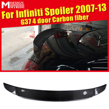For infiniti G37 4-Door Rear Spoiler Tail High-quality Carbon Fiber Frunk Wing Lip car styling Auto Part 07-13