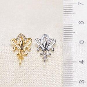 Image 1 - Nowy ARRIVANL wykwintne perły wisiorek oprawy, ustalenia wisiorek, ustawienia wisiorek biżuteria części akcesoria kobiety akcesoria