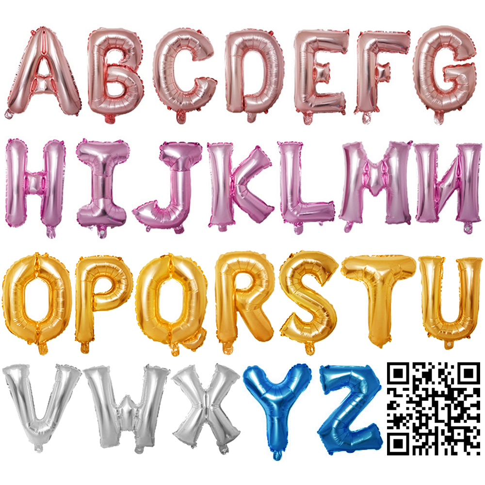 1pc 40inch Aluminium Foil Letter Ballons Accessories Kids Event Festive Supplies Birthday Party Decoration Wedding Balloons