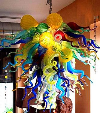 Dale Chihuly Style Art Murano Glass Lamp Multicolor Handmade Blown Glass Chandelier Light Fixture dale chihuly murano glass handmade blown chandelier italy design hotel decor led chandeliers