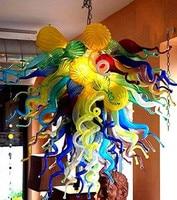 Dale Chihuly Estilo Art Lâmpada De Vidro Murano Multicolor Handmade Vidro Soprado Luz Do Candelabro Luminária