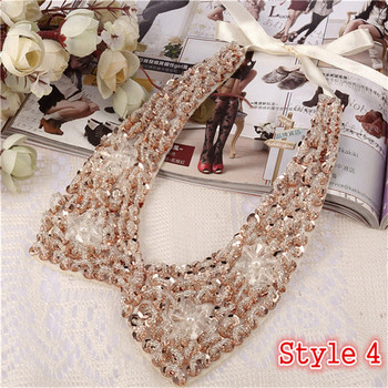 Fashion Women's Sequined Choker Necklaces Jewelry Necklaces Women Jewelry Metal Color: Style 4