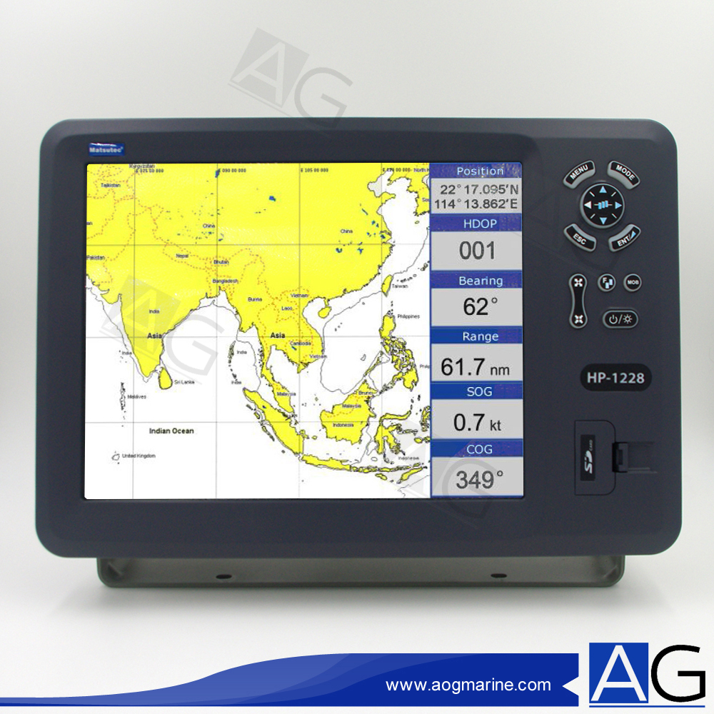 "Matsutec 12"" Color LCD Marine GPS Chart Plotter / Marine Navigator / Boat  GPS-in Marine GPS from Automobiles & Motorcycles on Aliexpress.com 
