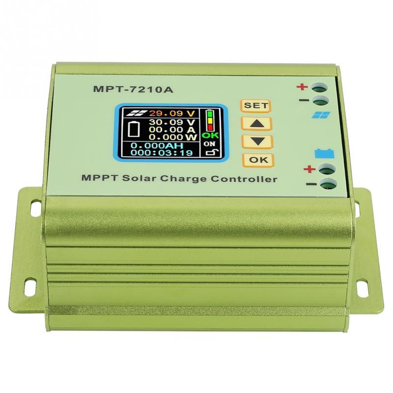 Image 5 - MPT 7210A LCD MPPT Solar Panel Charge Controller Aluminum Alloy for Lithium Battery 24V / 36V / 48V / 60V / 72V battery pack-in Solar Controllers from Home Improvement