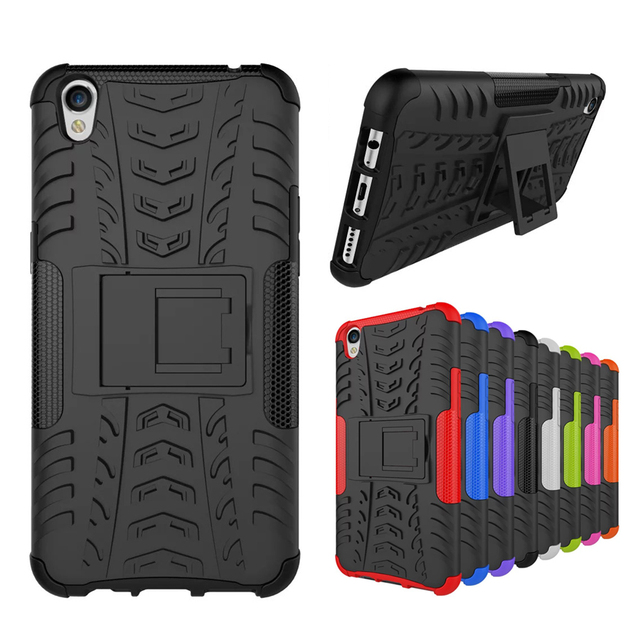buy popular cf3a2 d1e72 US $3.71 7% OFF|For Oppo F1s Rugged Case Hybrid Shockproof Armor Stand Case  For Oppo A1601 F1s Texture Grip Pattern Case Fundas Coque-in Half-wrapped  ...