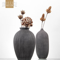 resin creative abstract Retro flowers vase pot vintage statue home decor crafts room decoration office resin figurines wedding