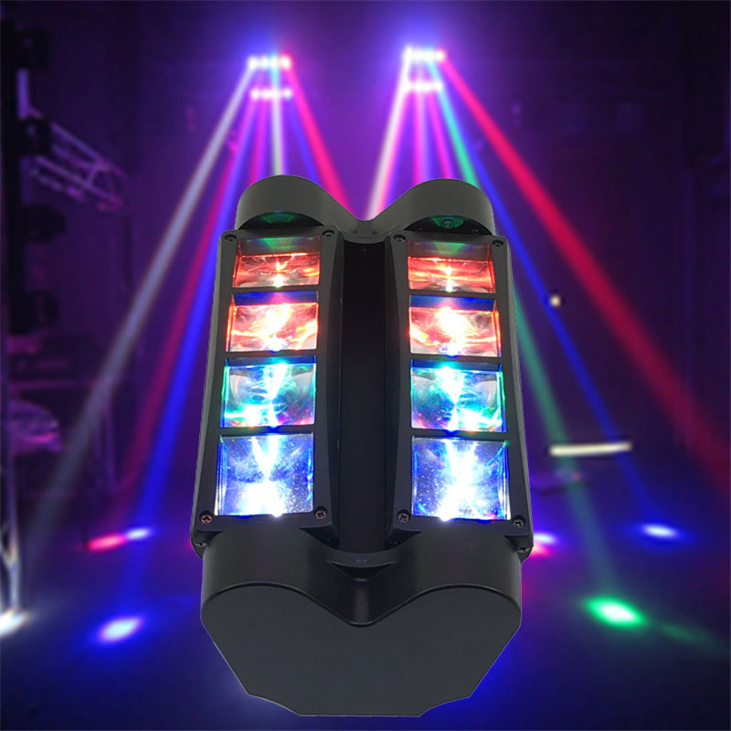 Portable Moving Head Spider Light Mini LED Spider 8x10 W RGBW Beam Light Great Effects DJ Disco Nightclub Party Stage Lighting