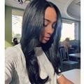 7а бразильский шелк лучших человеческих волос парики для чернокожих женщин 4 x 4 шелк лучших бразильских светло-яки фронта парик человеческих волос парики