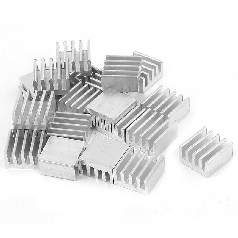 Venta al por mayor 8,8x8,8x5mm accesorios de refrigeración DIY disipador de calor CPU GPU Chip de memoria IC disipador de calor de aluminio radiador de refrigeración extruido