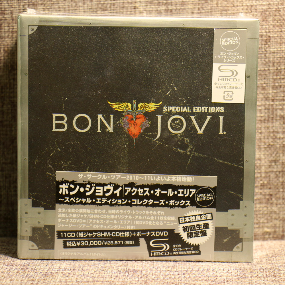 BON JOVI 11CD+1DVD BOX SET Complete Collection Special Edition Music Cd Boxset brand NEW Free Shipping binyeae new u2 band the complete edition 1976 2018 box 22cd u s original version of the complete works free shipping