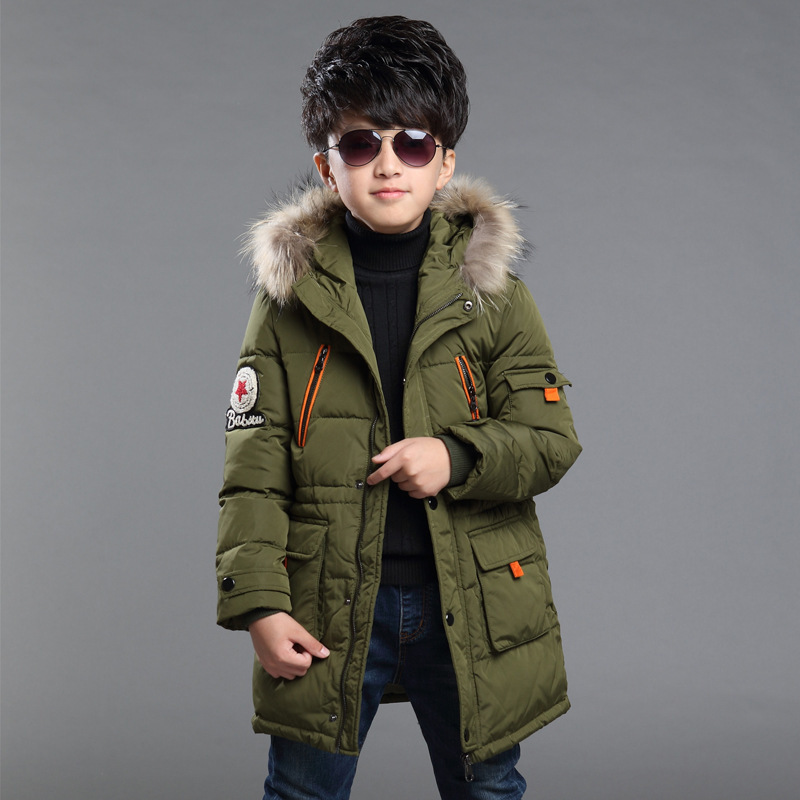 2016 Winter Children Boys Down Jacket Coat Thick Warm Collar Hooded Kids Clothing Outwear Cotton Padded Clothes TZ68 2016 winter thick down jacket fashion girls boys cotton hooded coat children s jacket warm outwear kids casual outwear 16a12