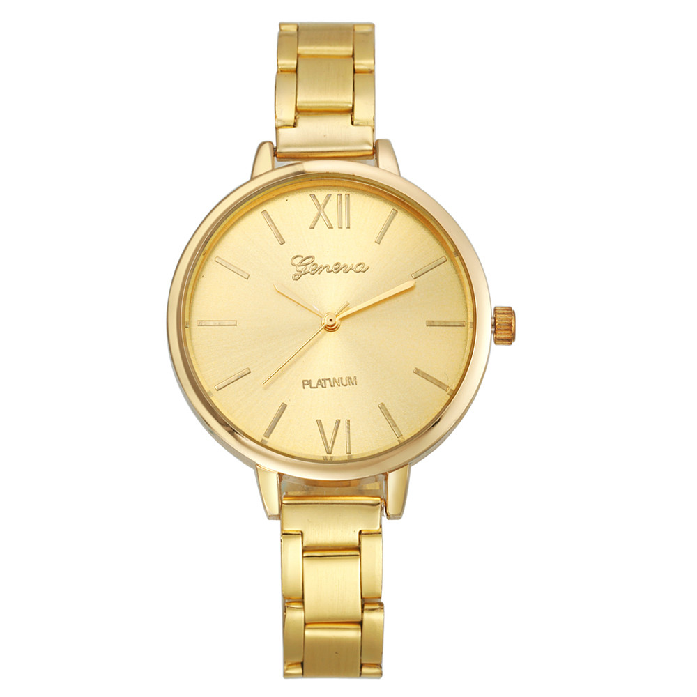New Women's Watch Geneva Alloy  Quartz Wrist Watch For Women Lady Girl Gold Silver Rose-gold Color