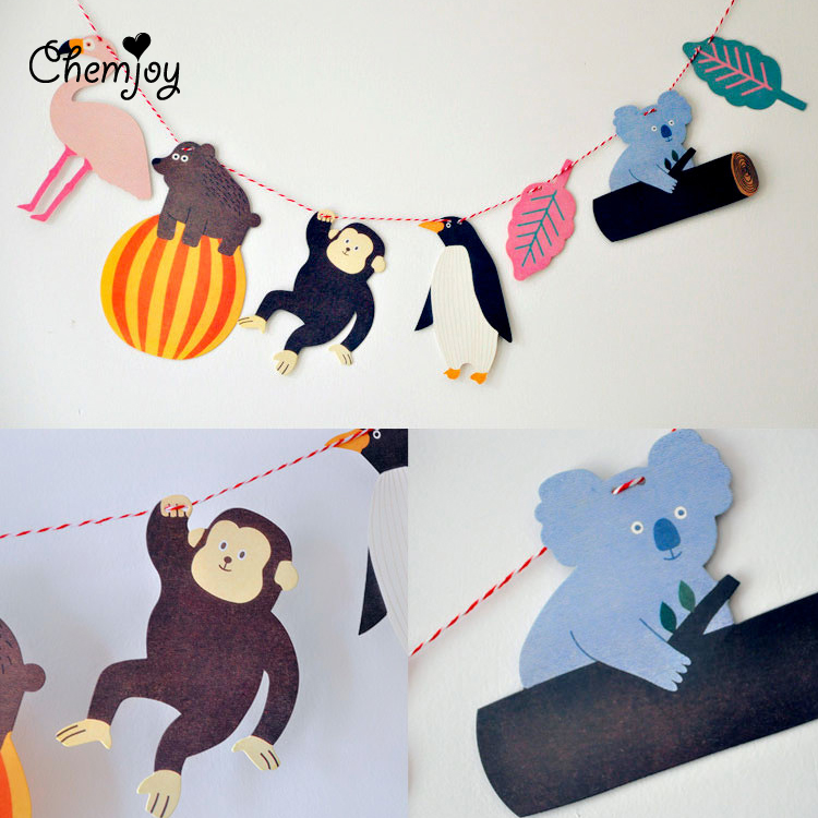 monkey bear penguin baby shower decorations kids birthday party decor