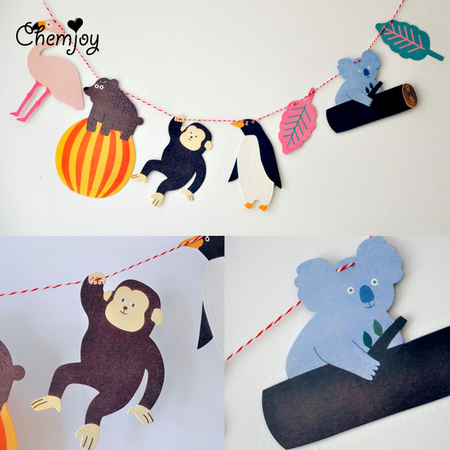 aliexpress  buy baby shower hanging animal garland monkey, Baby shower invitation