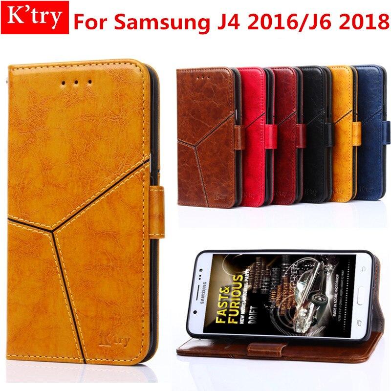 Per il caso di Samsung Galaxy J4 J6 2018 coque di Lusso Dell'unità di elaborazione di Cuoio di Vibrazione Del Raccoglitore della copertura Del Supporto Del Basamento Per Samsung J4 J6 2018 del telefono Custodie