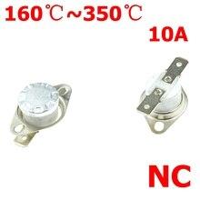 Термостатического переключателя 165 170 200 220 250 280 300 градусов Цельсия NC нормально закрытый керамический Температурный датчик для определения температуры KSD301 10A 250V