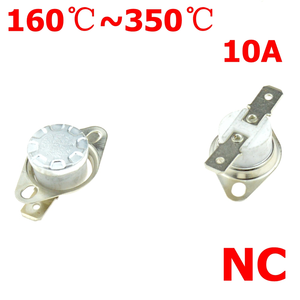 Thermostat Switch 165 170 200 220 250 280 300 DegC NC Normally Close Ceramic Thermal Sensor Temperature Switches KSD301 10A 250V