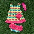 Bebê meninas boutique roupas conjuntos de roupas de bebê balanço balanço de cheques asteca tops com arco