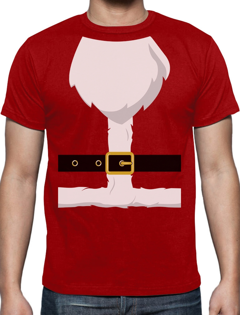 Santa Claus Suit Funny Novelty Christmas Gift T-Shirt Xmas