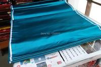 Chinese Traditional Silk Brocade Fabric Lake Green Lake Blue Nature Color Plain Cloth No Any Pattern