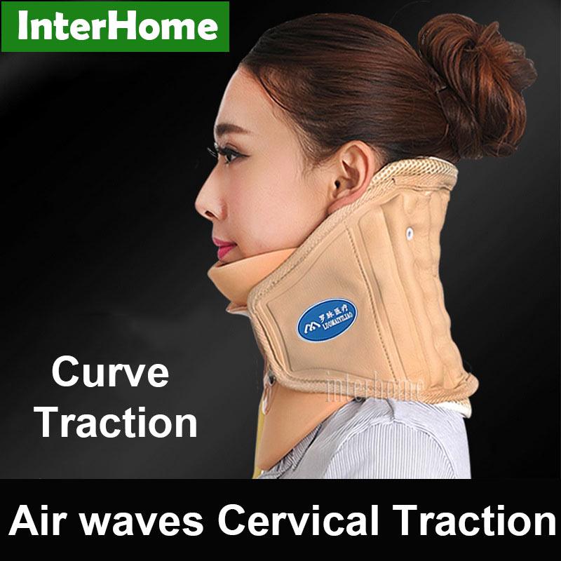 Neck Pain Relief Head Healthy Air Waves Cervical Traction Stretch Brace Back Stretcher Adjustment Chiropractic Strain Correction