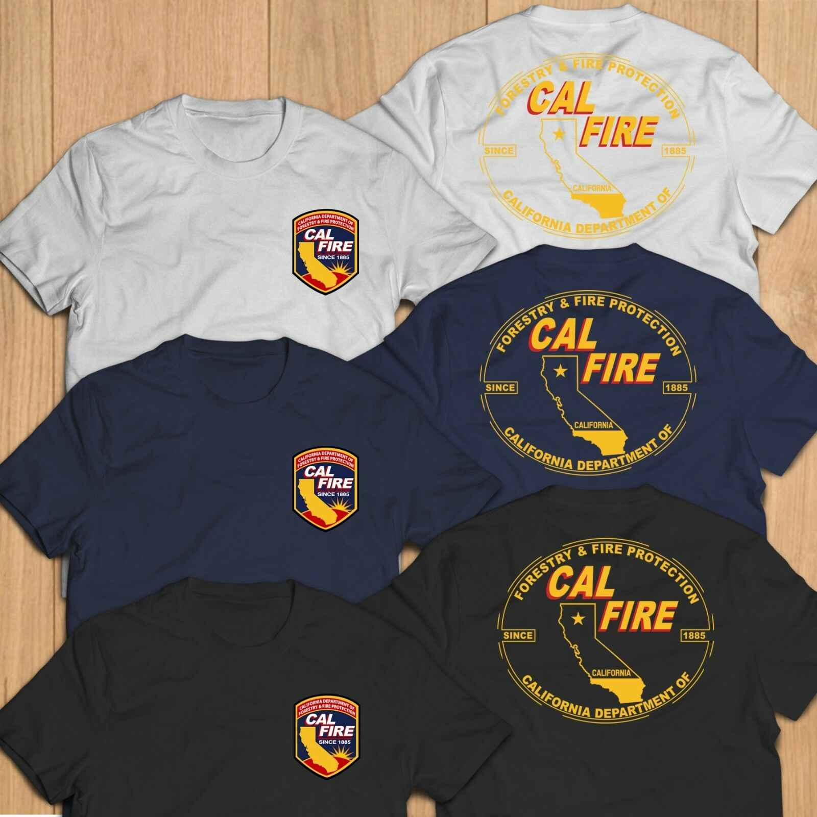 888a0e861 California Calfire Fire Department Unit Rescue Paramedic T-Shirt Tee  harajuku funny t shirts