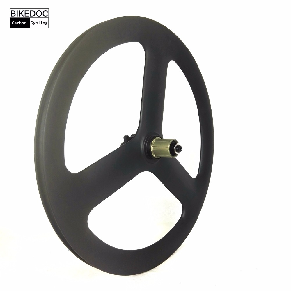 BIKEDOC BMX 20 inch 451 carbon 3 spoke wheel clincher bicycle wheels 23mm width racing carbon wheels 700c which spoke carbon wheels t700 v sprint carbon wheels 50mm carbon wheel with 20 5mm width d and t350hub