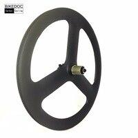 20 Inch 451 Carbon 3 Spoke Wheel High Quality Carbon Wheels 23mm Width Tri Spoke Wheel