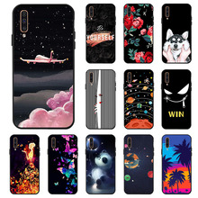 Ojeleye Fashion Black Silicon Case For Samsung Galaxy A50 Cases Anti-knock Phone Cover A505F Covers