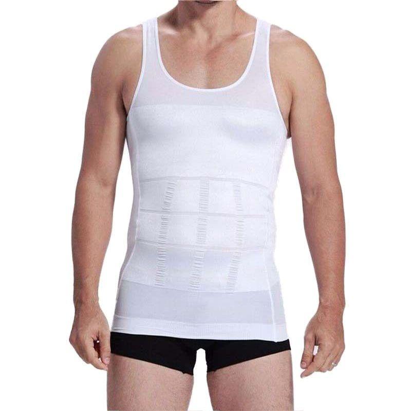 S-XXXL Men Slimming Vest Shirt Corset Shirt Shape Comfort Slimming Protective Vest Corset Shaper Underwear