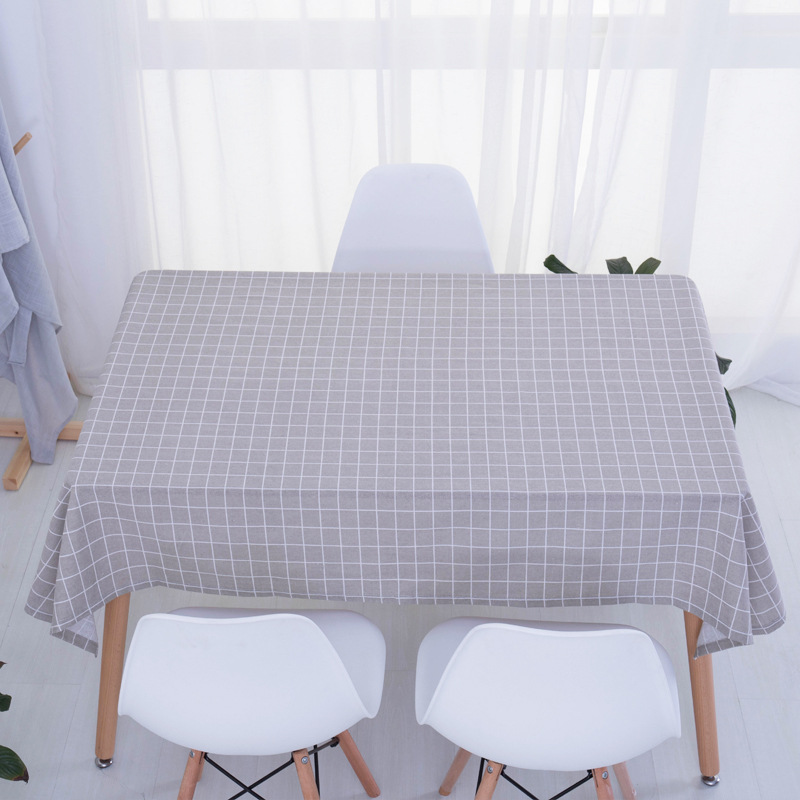 2018 new Stylish Table Cloth Country Style Plaid Print Multifunctional Rectangle Table Cover Tablecloth Home Kitchen Decoration in Tablecloths from Home Garden