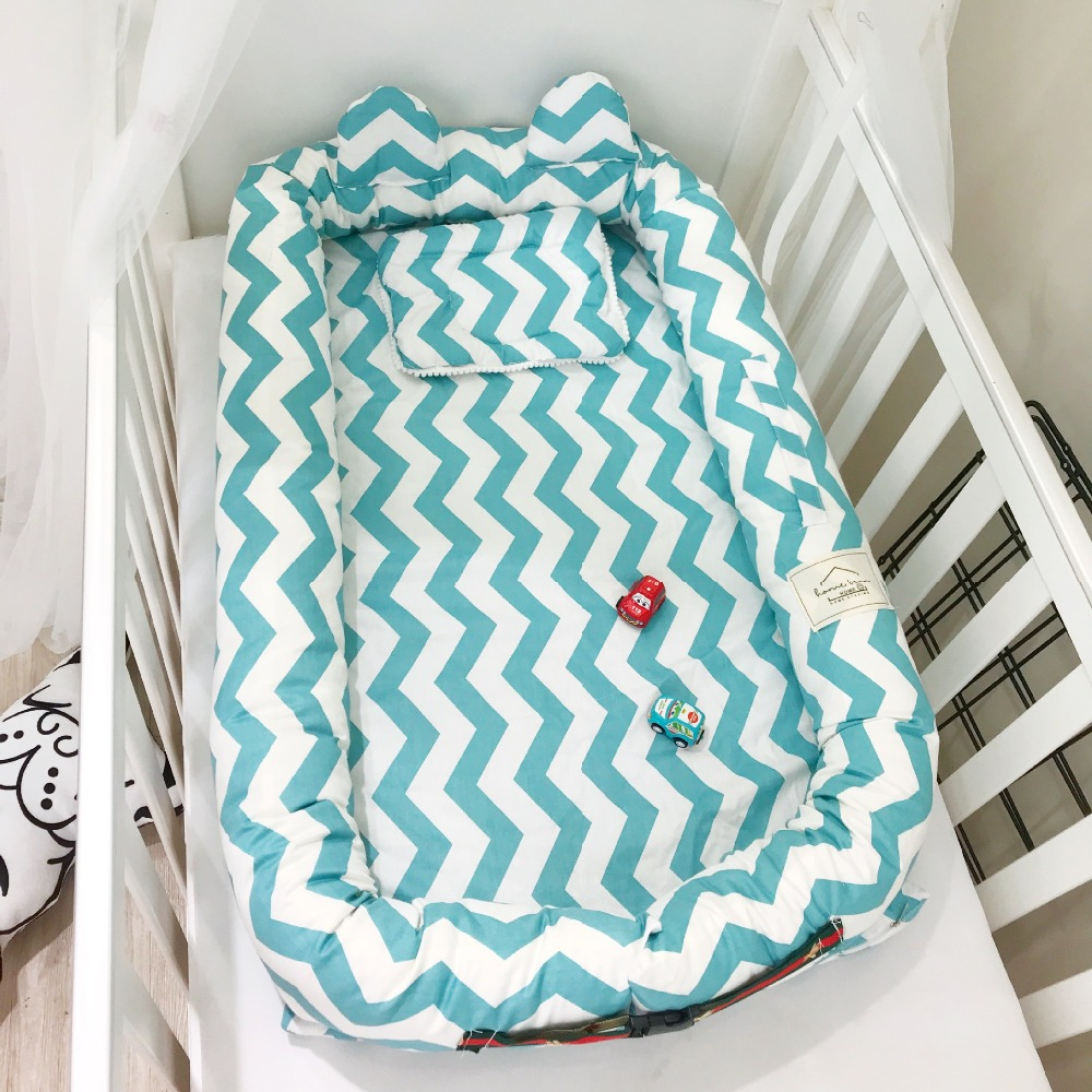 Portable Baby Cotton Carry Cot Crib Fold Bed co Sleeper Removable Sleeper Travel Nest Disassemble Basket Net Newborn 0-12 monthsPortable Baby Cotton Carry Cot Crib Fold Bed co Sleeper Removable Sleeper Travel Nest Disassemble Basket Net Newborn 0-12 months