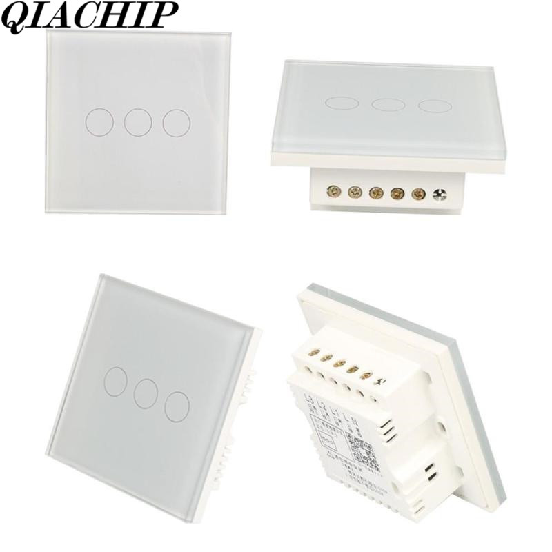 WiFi Smart Switch w/APP Control Work with Amazon Alexa Voice Control Timing 3CH Light Wall Switch AC 100-250V UK Plug DS30 wireless wifi switch smart home automation module timer diy light wall switch app control work with amazon alexa voice control