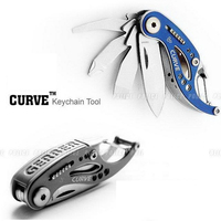 Outdoor Camping Curve Multifunctional Combination Opener Tool Little Whale Pocket Portable Gadget EDC Survival Keychains