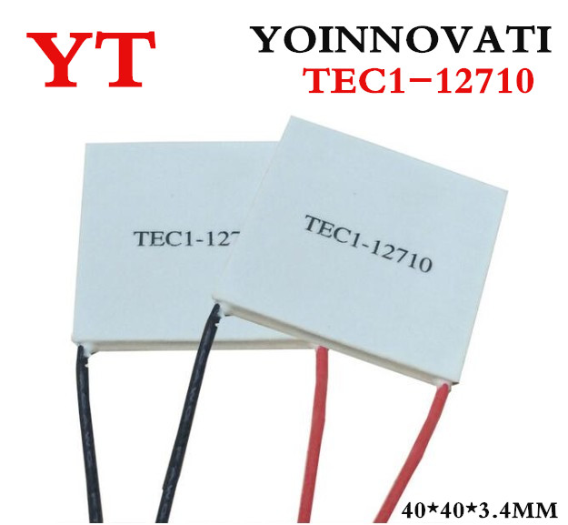 Free Shipping 1pcs TEC1-12710 DC12V 10A Thermoelectric Cooler Peltier 40*40*3.4MM  Best qualityFree Shipping 1pcs TEC1-12710 DC12V 10A Thermoelectric Cooler Peltier 40*40*3.4MM  Best quality