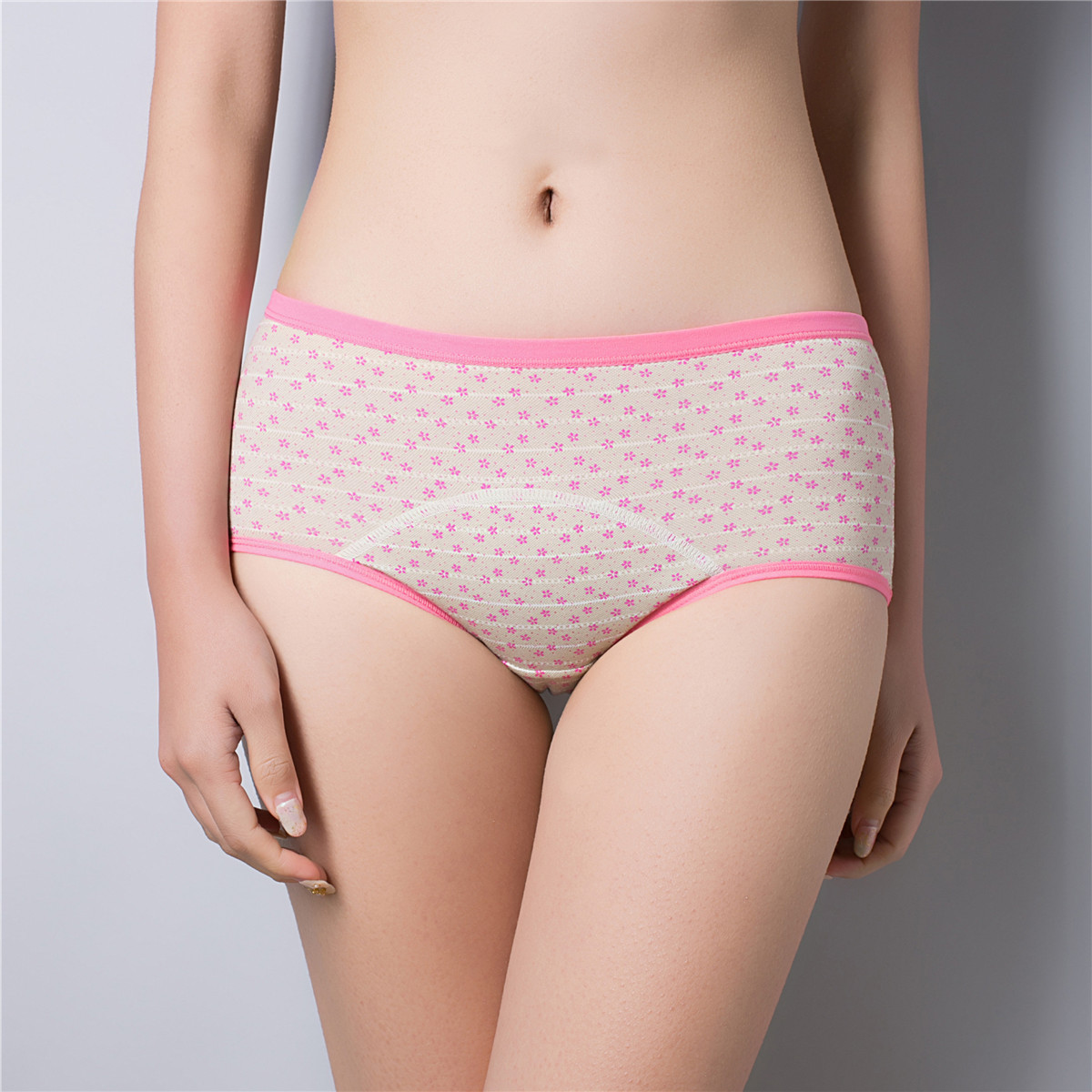 New Pattern Woman panties Pure Cotton Printing Around In Waist Physiology Waterproof Antibiosis Ma'am Underpants