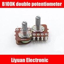 5 шт. B100K двойной потенциометр 8pin усилитель мощности потенциометр