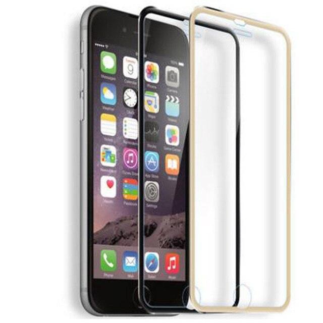 Para o iphone 5 5S 6 7 6 s Protetor de Tela Mais Cobertura Completa 3D curvo Borda de Vidro Temperado Para o iphone 7 Plus 6 7 Além de Filme de Titânio