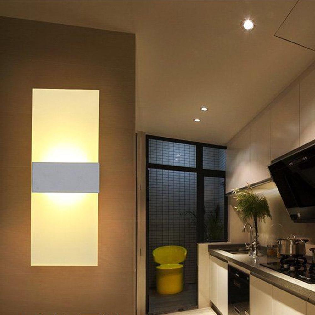 AC85 265V LED Acryl Bar Licht Wandleuchten Lampe Nachtlicht Fr Hause Corridor Wohnzimmer Super Helle