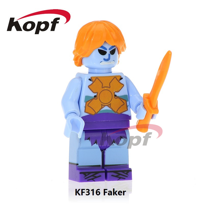Faker Skeletor He Man Heman He-man Rare Motu Master of the Universe Vintage Building Blocks Super Heroes Toys for children KF316 moc the iron man work station hall of armor war machine super heroes avengers building blocks kids toys not include minifig