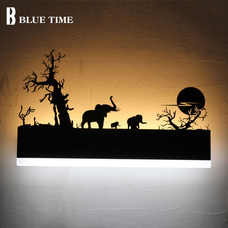 Modern LED Wall Light Acrylic Black Creative Sconce LED Wall Lamp For Living room Bedroom Bathroom Mirror Front Light WandLamp modern brief creative wave shape waterproof acryl led mirror light for bathroom living room wall lamp 41 50cm 1386