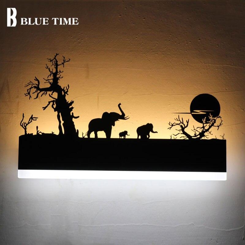 Moderne Applique Murale à Led Acrylique Noir Creative Applique Mur LED Lampe Pour salon Chambre Salle De Bains Miroir Avant Lumière WandLamp