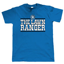 The Lawn Ranger Funny Gardening T Shirt, Fathers Day Birthday Gift Dad Grandad Tops Tee New Unisex free shipping